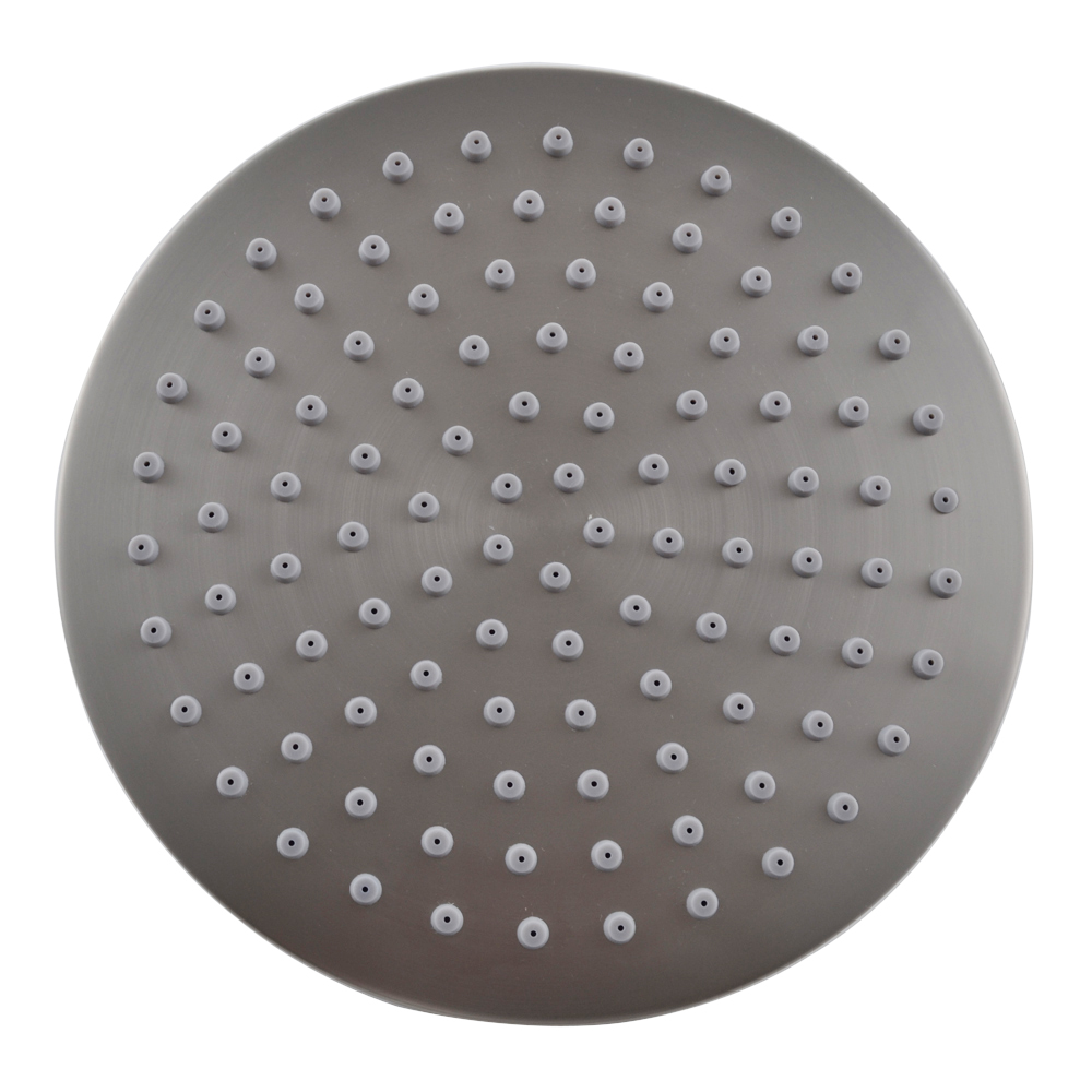 J203-2 ALL METAL 8-Inch Shower Head Fixed Mount Rainfall Style ...