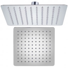 KES J211S10 ALL SUS304 Stainless Steel 10-Inch Shower Head Fixed Mount Rainfall Style Modern Square Ultra Thin, Polished