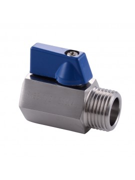 KES Shower Head Shut-Off Valve Ball Valve 1/2-Inch IPS SUS304 Stainless Steel Polished Finish, K1145