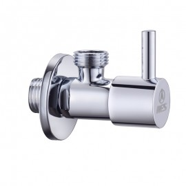 KES K116A3 Brass Quarter Turn Angle Valve 1/2¡± IPS Inlet and Outlet Ceramic Disc Cartridge, Polished Chrome
