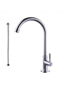 KES K8001A1LF Lead-Free Single Handle Cold Water Brass Replacement Kitchen Faucet, Chrome