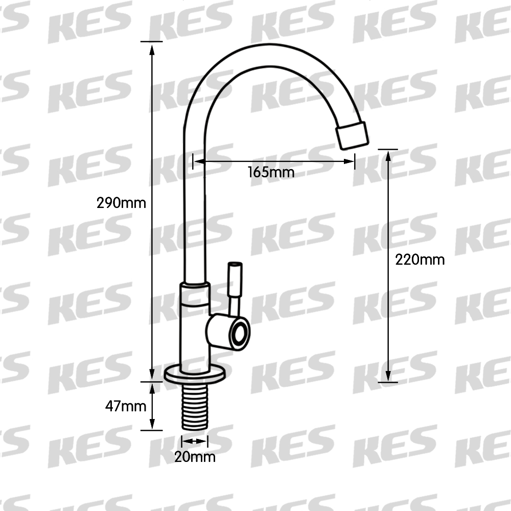 K8001A1LF Lead-Free Single Handle Cold Water Brass Replacement ...