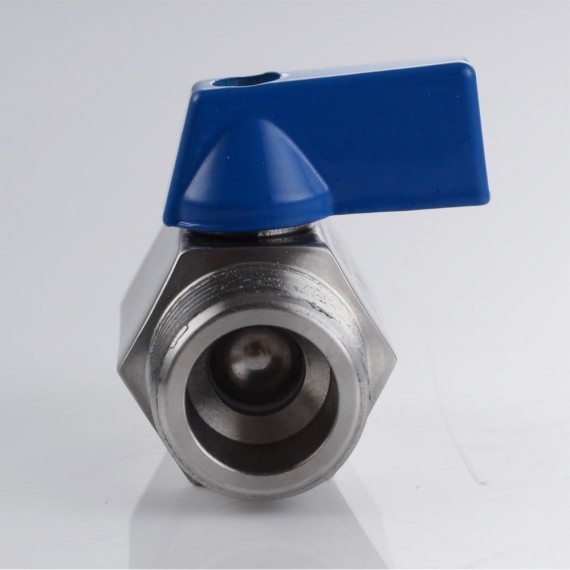 KES Shower Head Shut-Off Valve Ball Valve 1/2-Inch NPT SUS304 Stainless Steel Polished Finish, KUS1145
