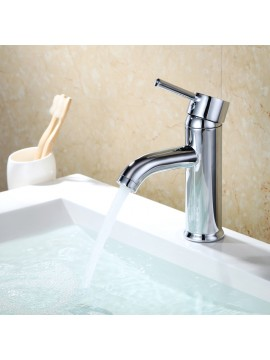 KES Modern Bathroom Sink Faucet Single Handle Wash Basin Faucet Lavatory Tap Lead-Free Brass, L3100ALF-CN/-BN/-PG/-ORB