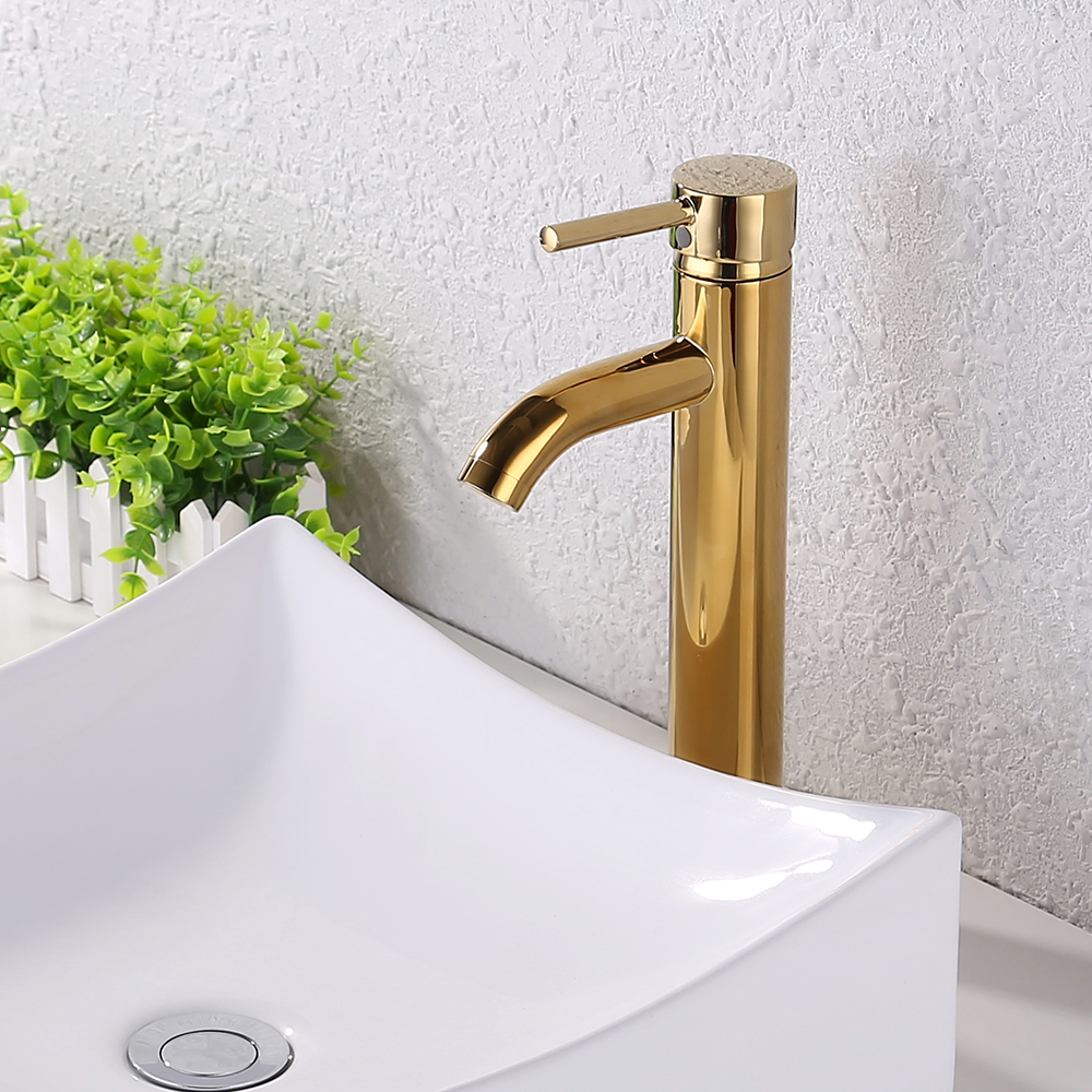 KES Faucet Bathroom Sink Brass Single Hole Single Handle Lavatory ...