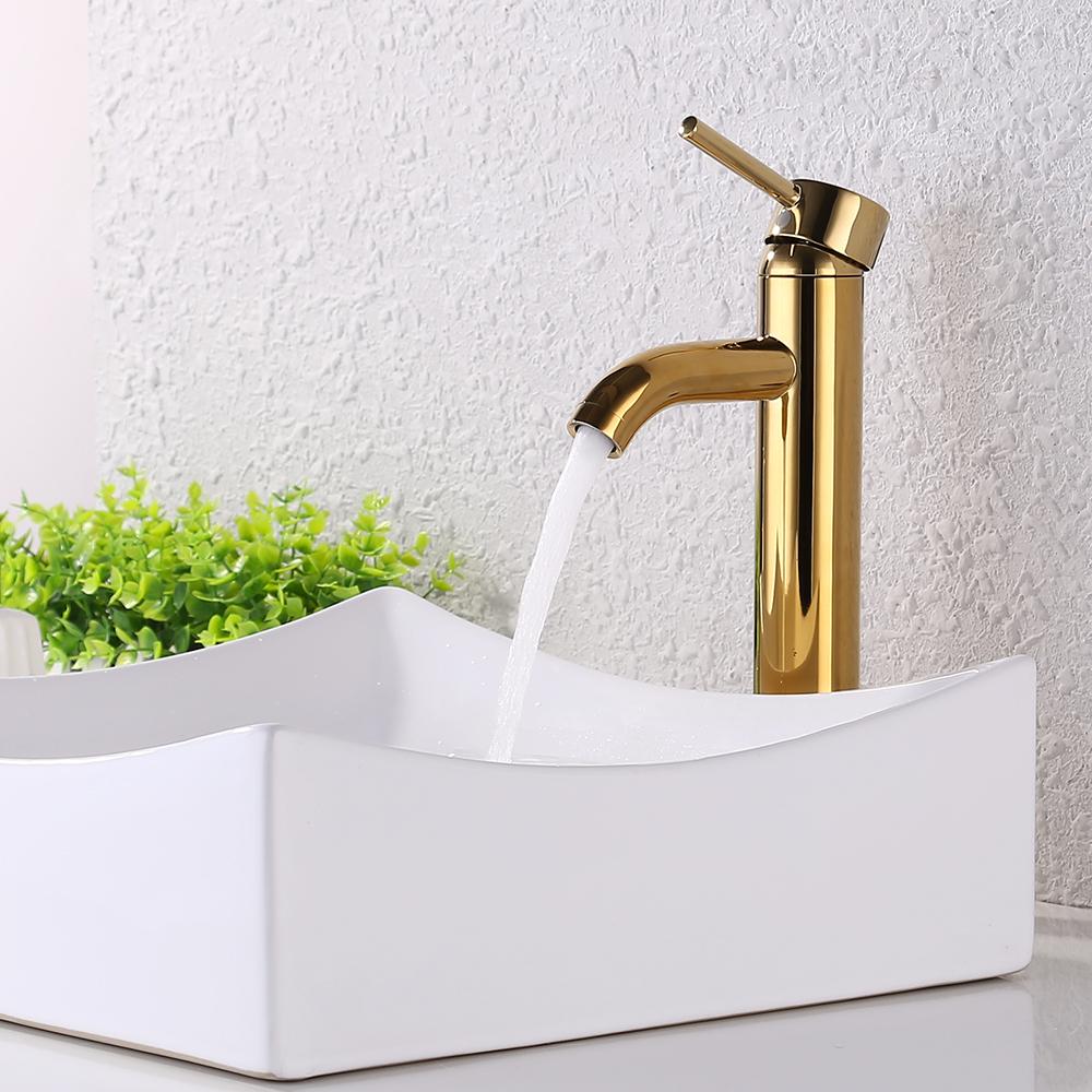 Kes Faucet Bathroom Sink Brass Single Hole Single Handle Lavatory