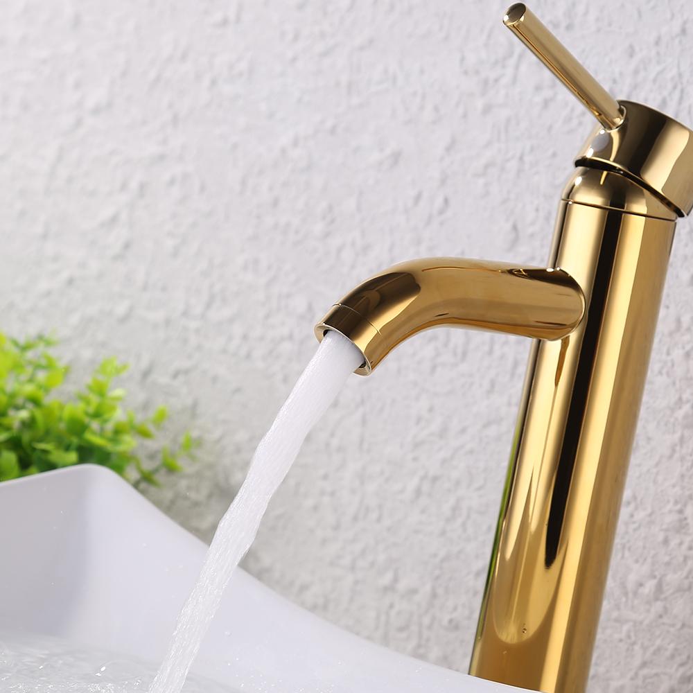 KES Faucet Bathroom Sink Brass Single Hole Single Handle Lavatory ...