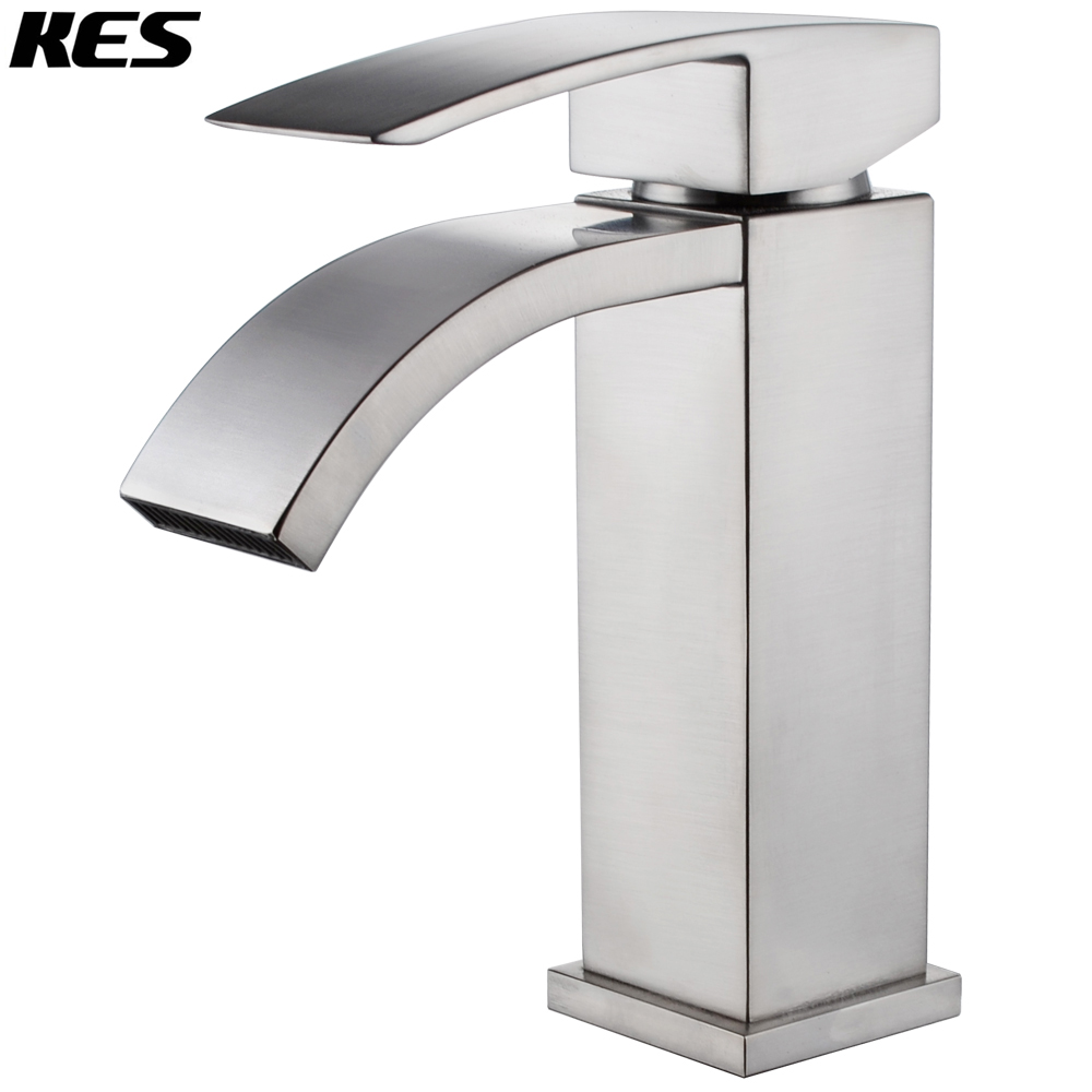 KES L3109A1LF-2 Single Handle Waterfall Bathroom Vanity Sink Faucet ...