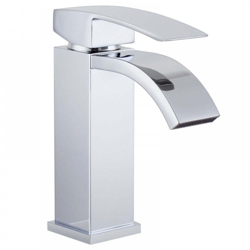 Kes L3109a1lf Single Handle Waterfall Bathroom Vanity Sink Faucet With Extra Large Rectangular Spout Chrome