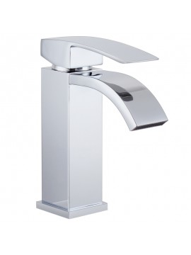 KES L3109A1LF Single Handle Waterfall Bathroom Vanity Sink Faucet with Extra Large Rectangular Spout, Chrome