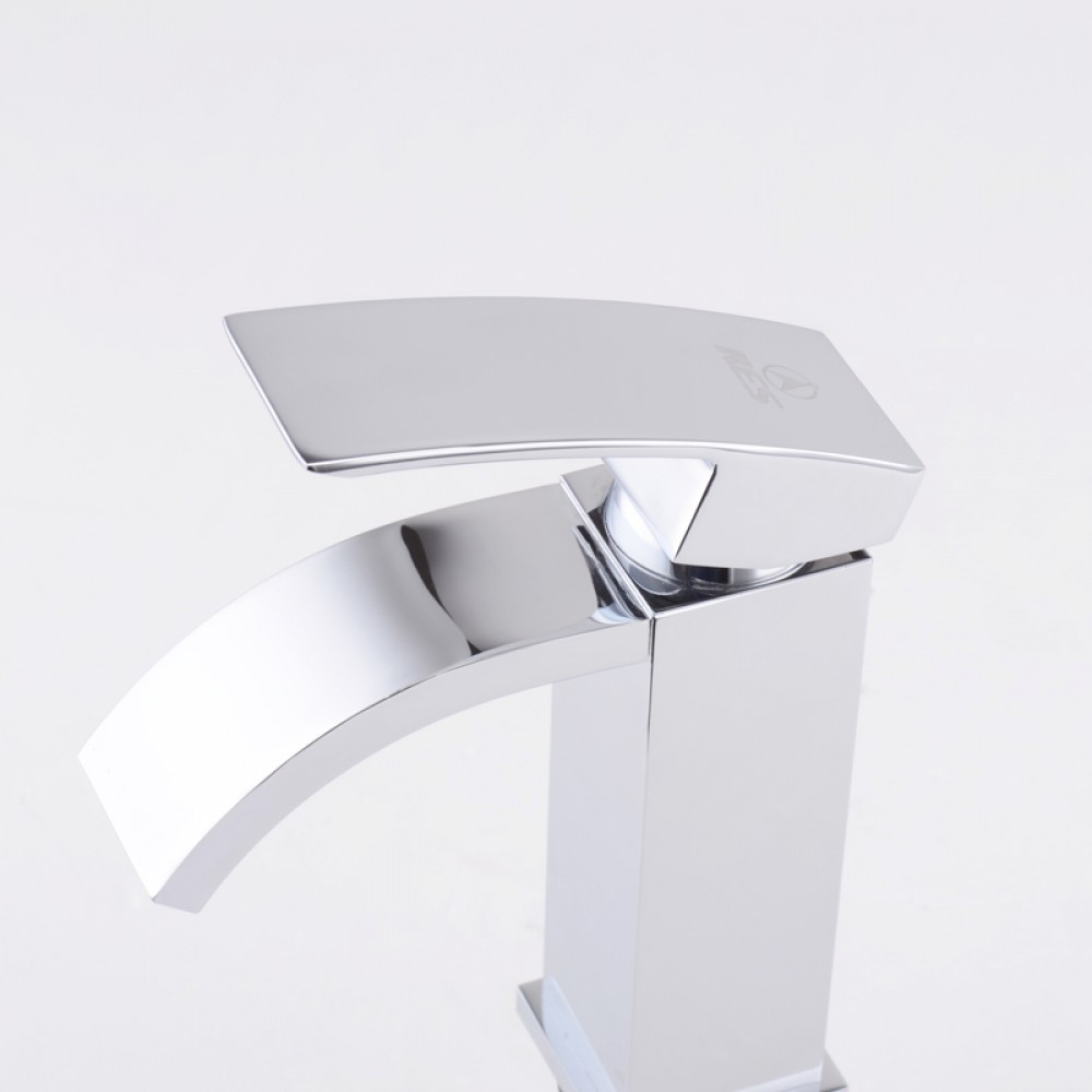 Bathroom Sink Faucet Classic Design Waterfall Square Glass Kitchen Bathroom  Vanity Vessel Sink