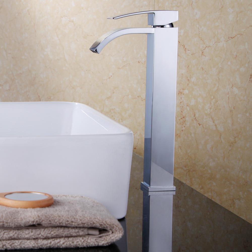 KES Lead-Free Brass Bathroom Sink Faucet Single Handle Waterfall ...