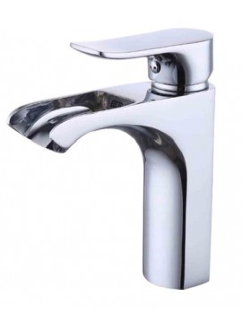 KES Lead-Free Brass Bathroom Sink Faucet Single Handle Lavatory Single Hole Vanity Sink Faucet Polished Chrome, L3122LF-CH