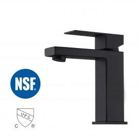 Bathroom sink Faucet with Single Handle type, Matt Black L3156ALF-BK