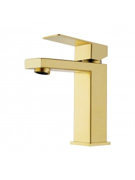 Bathroom sink Faucet with Single Handle type, Brushed Brass Finish L3156ALF-BZ