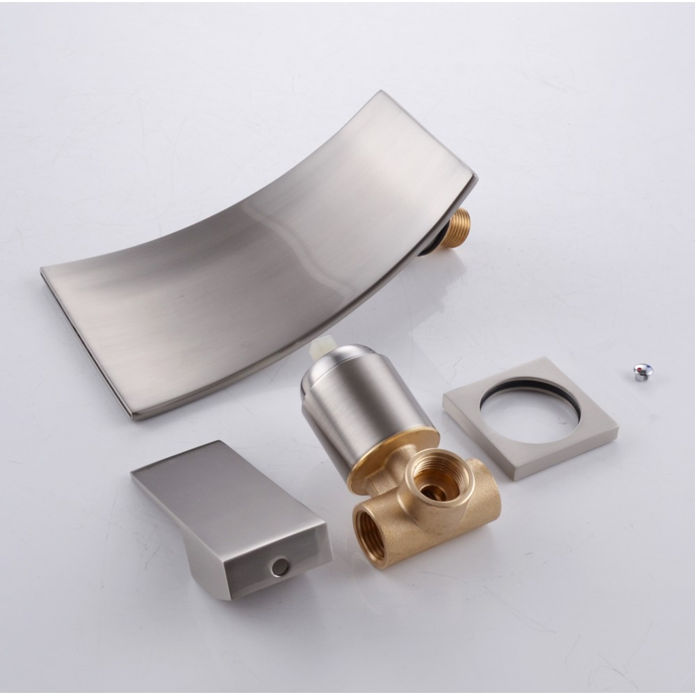 Amazing KES BRASS Single Handle Waterfall Sink Faucet SUS304 Stainless Steel Spout  Wall Mount For Bathroom Vanity Or ...