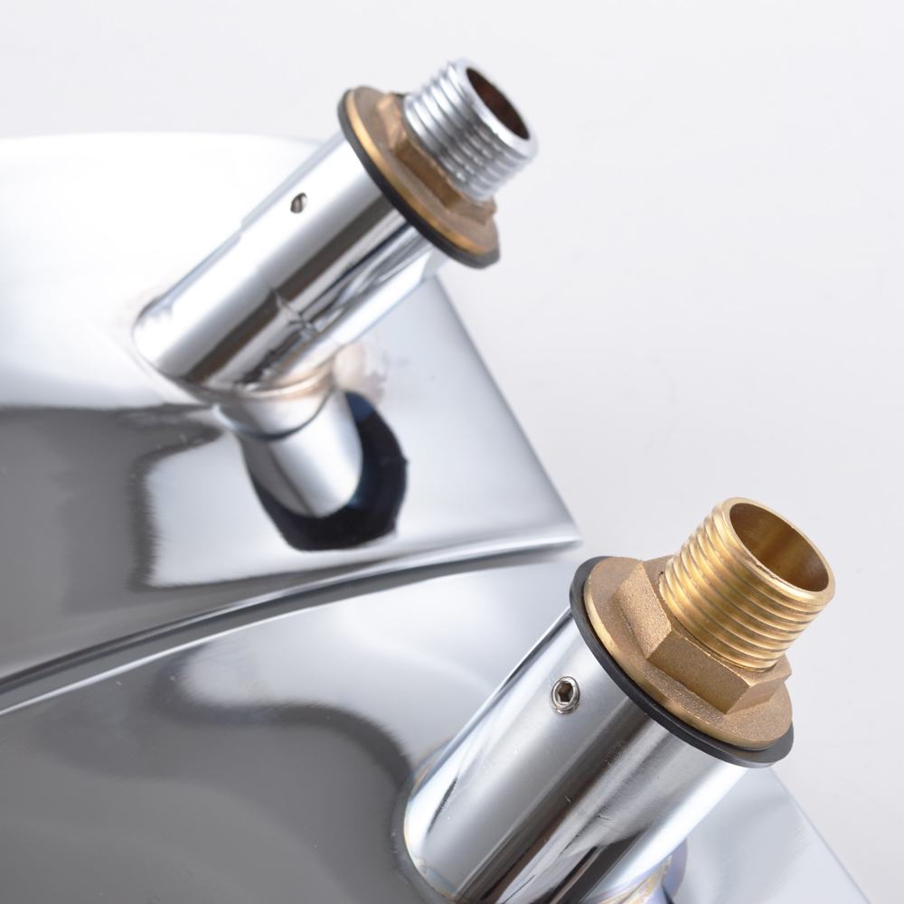 Kes Wall Mount Bathroom Faucet Waterfall Lavatory Sink