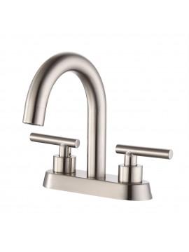 4 Inches Centerset Bathroom Sink Faucet Brushed Nickel Morden Vanity Faucet Brass Construction, L4117LF-BN