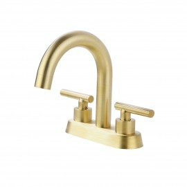 Bathroom 4 Inches vanity Faucet with Two Handles type, Brushed Brass Finish L4117LF-BZ