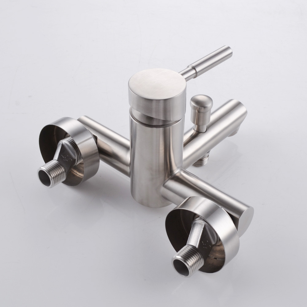 KES SUS 304 Stainless Steel Bathroom Shower Tub Faucet with Diverter ...