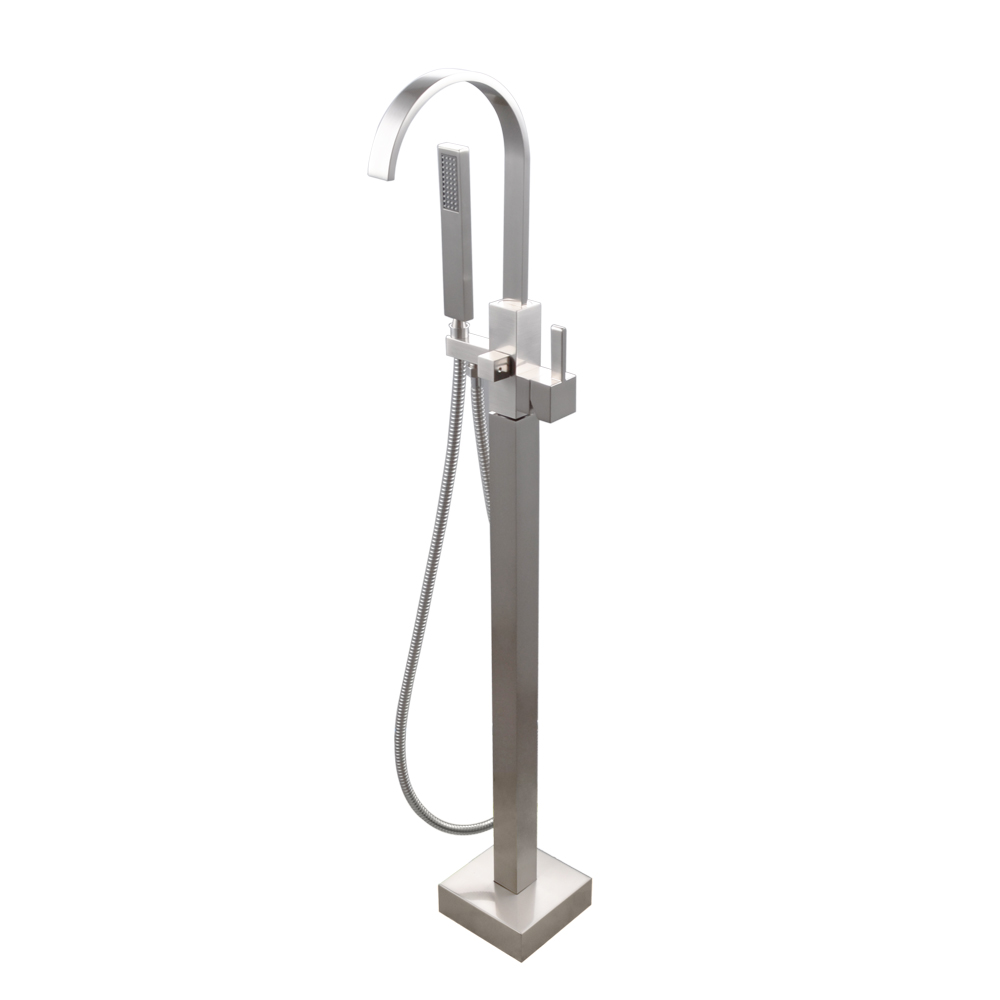 KES Brass Freestanding Tub Filler Faucet with Brass Hand Shower Head ...