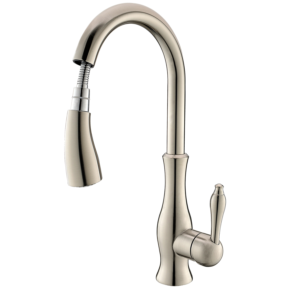 Kes Kitchen Faucet Pull Down Spray Single Handle Traditional Style Hole Bar Sink Water Mixer