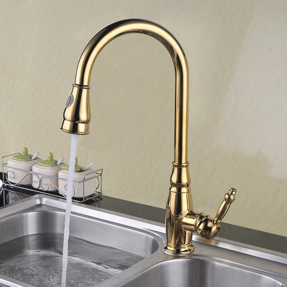 Delightful Tall Kitchen Faucets #20 - KES BRASS Tall Kitchen Faucet With Pull Down Sprayer Extra High Large  Modern Commercial Pullout Sink ...