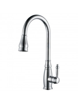 KES BRASS Tall Kitchen Faucet With Pull Down Sprayer Extra High Large  Modern Commercial Pullout Sink