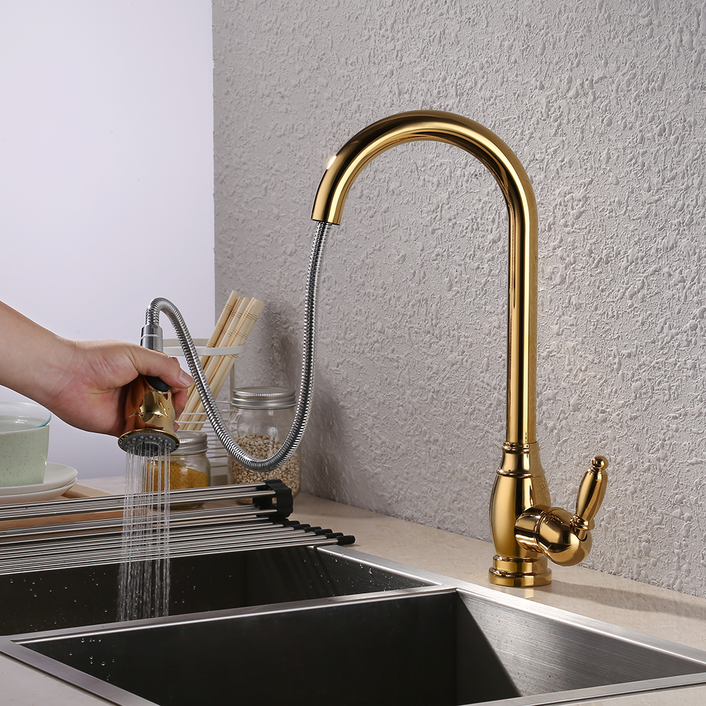 Kes Br Bar Sink Faucet With Pull Down Sprayer Head Modern Single