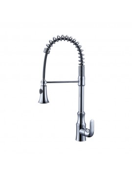 KES Pull Down Spring Faucet Kitchen Single Handle High Arc Kitchen Bar Sink Faucet Single Hole, L6936BLF