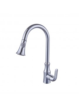 Beau KES Brass Pull Down Kitchen Faucet Modern Single Large Tall Commercial  Pullout Bar Sink Faucet With