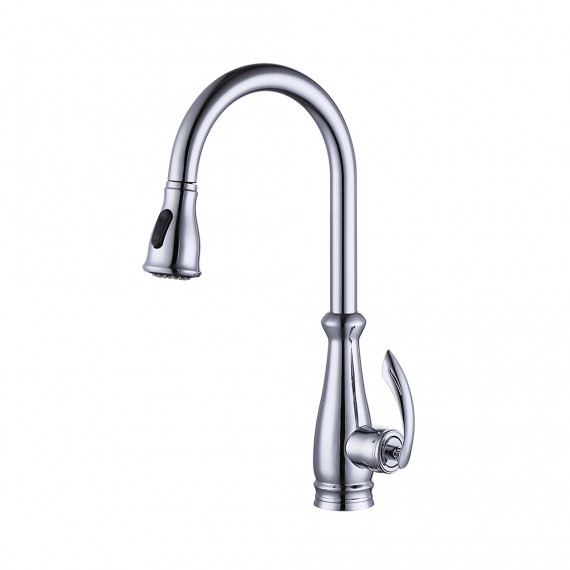European High Quality Folding Kitchen Faucet Household: KES Brass Singel Lever High Arc Pull Down Kitchen Faucet