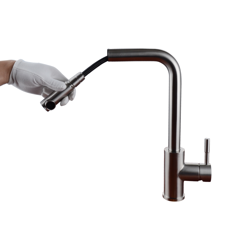 LEAD-FREE Kitchen Faucet Pull Out SUS 304 Stainless Steel Pullout ...