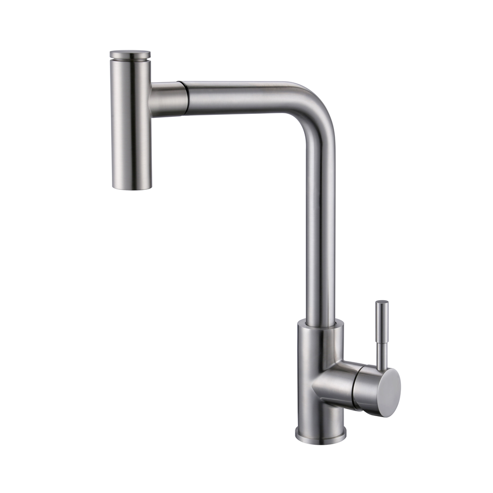 Stainless Steel Pulldown Kitchen Faucet Modern Single Large Tall ...