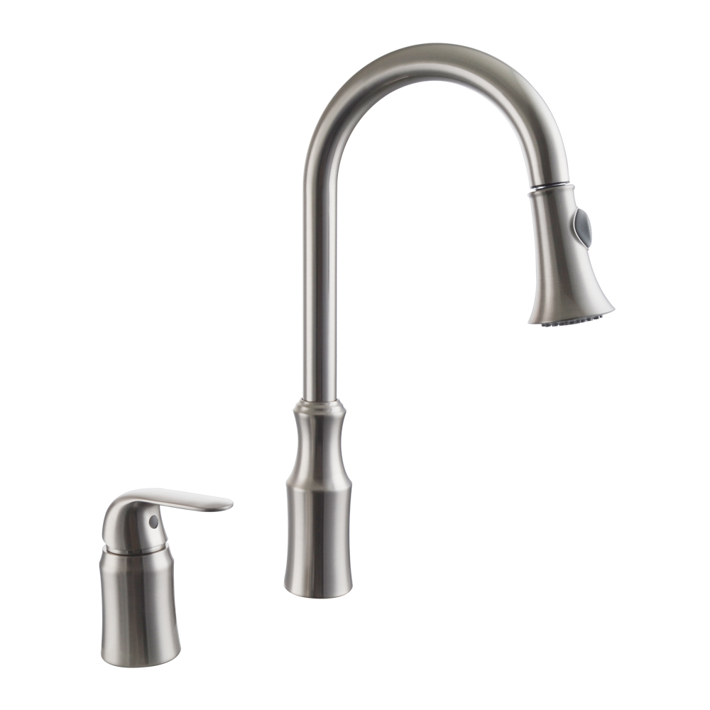 KES Kitchen Faucet, Kitchen Sink Faucet Pull Down With 2 Funtion Swivel  Spray Head Two Hole ...