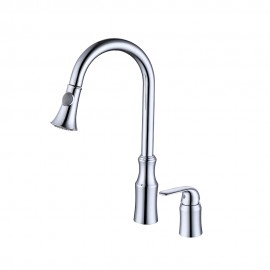 KES Kitchen Faucet, Kitchen Sink Faucet Pull Down with 2 Funtion Swivel Spray Head Two Hole Mount (Brass Lead-Free), L6980LF/-2/-4/-7