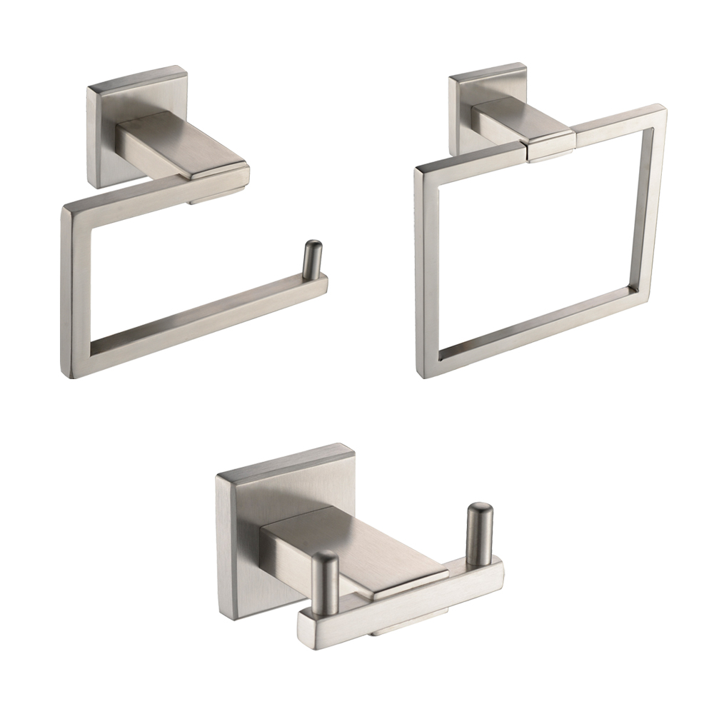 KES LA242 31 Bathroom Accessories Tissue Holder/Double Hook/Towel Ring  SUS304 Stainless Steel Wall Mount, ...