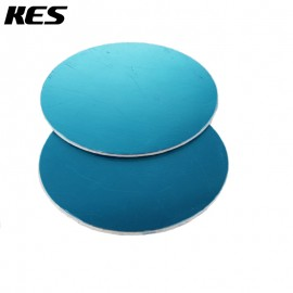 KES Adapter Plate 95mm Circular Adhesive Dash / Mounting Disc with 3M Adhesive, Polished Stainless Steel, 2 Pieces or 1 Pair