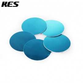 KES Adapter Plate 95mm Circular Adhesive Dash / Mounting Disc with 3M Adhesive, Polished Stainless Steel, 5 Pieces