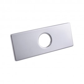 KES 6-Inch Sink Faucet Hole Cover Deck Plate Square Escutcheon for Bathroom or Kitchen Single Hole Mixer Tap, PEP2S15/-2/-7
