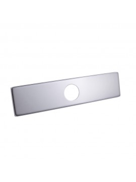 KES 10-Inch Sink Faucet Hole Cover Deck Plate Square Escutcheon for Bathroom or Kitchen Single Hole Mixer Tap, Polished Chrome, PEP2S26