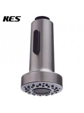 KES Bathroom Kitchen Faucet Pull-Out Spray Head 1/2-Inch IPS Universal Replacement Part Brushed Nickel, PFS1-2