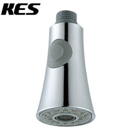KES PFS2 Bathroom Kitchen Faucet Pull-Out Spray Head Universal Replacement Part, Polished Chrome