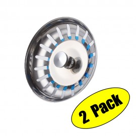 KES SUS304 Stainless Steel Kitchen Sink Strainer Stopper Waste Plug, 2 PCS, PSS5-P2