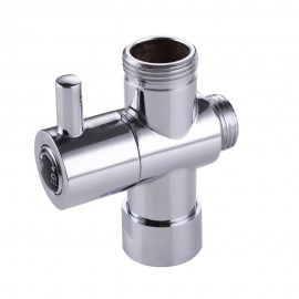 "KES PV1 SOLID BRASS 3-Way Diverter Valve 3/4"" and 1/2"" IPS Shower System Replacement Part, Polished Chrome"