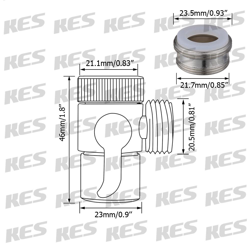 KES BRASS Sink Valve Diverter Faucet Splitter for Kitchen or ...
