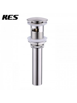 KES S2008A-BN Bathroom Faucet Vessel Vanity Sink Pop Up Drain Stopper with Overflow, Brushed Nickel, 400 PCS, S2008A-BN-P400