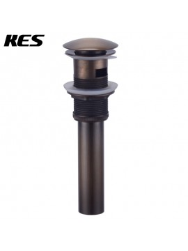 KES S2008A-3 Bathroom Faucet Vessel Vanity Sink Pop Up Drain Stopper with Overflow, Antique Copper