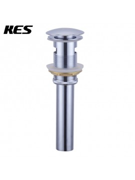 KES S2008A Bathroom Faucet Vessel Vanity Sink Pop Up Drain Stopper with Overflow, Polished Chrome