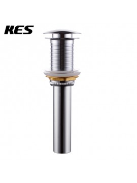 KES S2008D Bathroom Faucet Vessel Vanity Sink Pop Up Drain Stopper without Overflow, Polished Chrome/Brushed Nickel/Golden/Oil Rubbed Bronze
